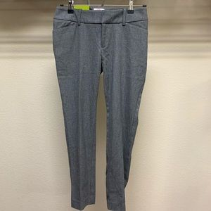 NWT Merona Ankle Pants Gray Stretch Mid Rise 2